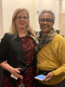 Two women pose for a picture at our Ingredients for Success event in November 2019.
